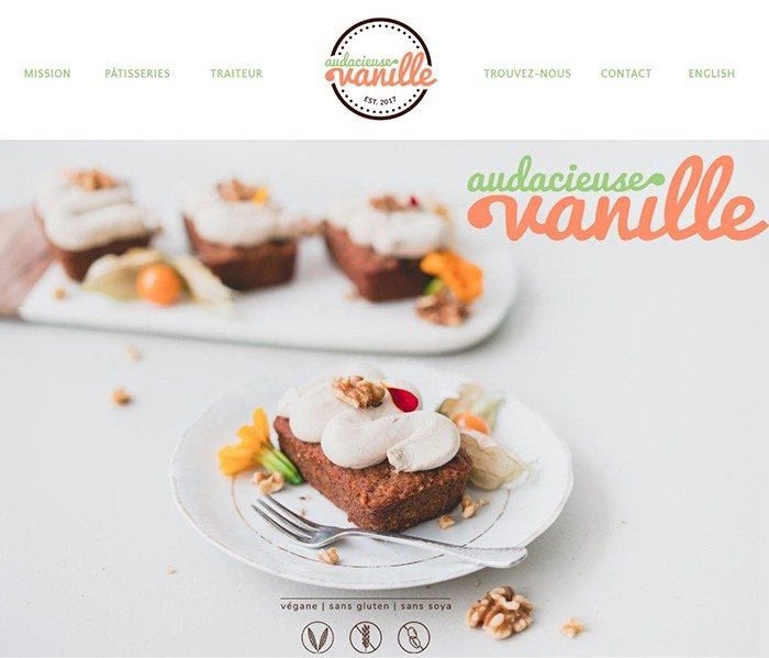 audacieuse vanille accueil front page